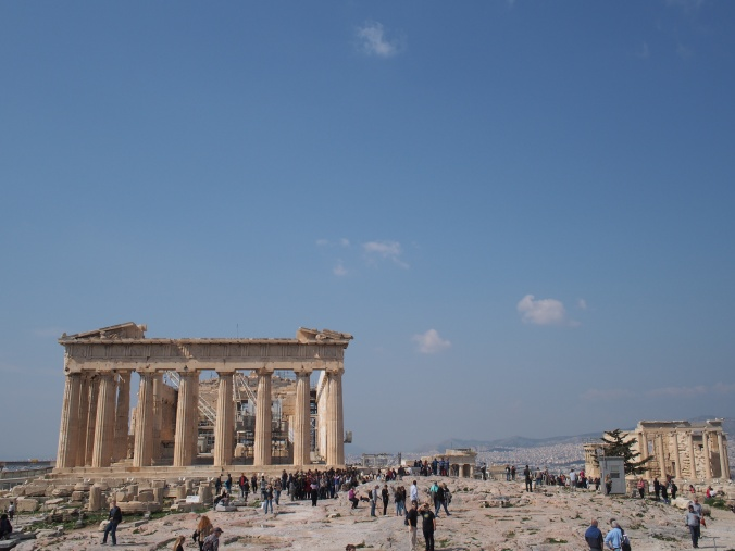 The Acropolis. When I hiked up to that glorious piece of rock, it became apparent to me that the temple that stood upon it was as old as time itself.
